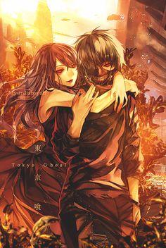 Rize and Kaneki - Tokyo Ghoul