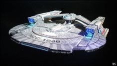 """The USS Europa was commanded by Admiral Brett Anderson. It wa a Nimitz class ship. The """"Europa may be named for the eponymous moon… New Star Trek, Star Wars, Star Trek Tos, Croiseur Lourd, Star Trex, Starfleet Ships, Starship Concept, Star Trek Images, Sci Fi Ships"""