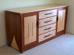 Contemporary Handmade Dresser In Bubinga & Curly Maple on Behance