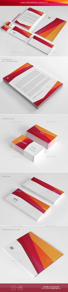 Abstract Lines Corporate Identity — Vector EPS #easy #letter • Available here → https://graphicriver.net/item/abstract-lines-corporate-identity/13783680?ref=pxcr