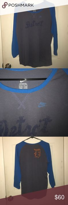 🐯Detroit tigers tee🐯 Never worn size large Nike Tops