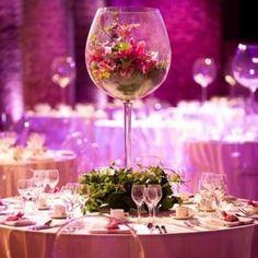 Vase Verre a Vin Mariage Géant 50cm, decoration mariage - Badaboum