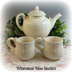 Whimsical Bliss Studios - Deco Lace Tea Set