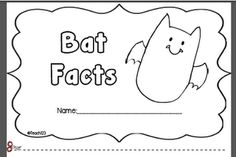 Teach123: Fun with Bats mini book...great facts!!!!