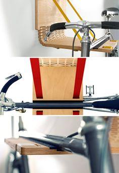 Elegant, fold-out design for bicycle storage. | Shared by velojoy.com