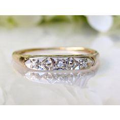 two tones vintage wedding ring | Antique Keepsake Diamond Wedding Ring 14K Two Tone Gold Decorative Art ...