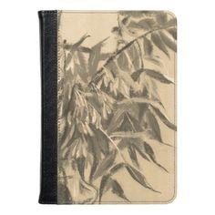 Ash-tree monochrome sepia brown foliage floral art