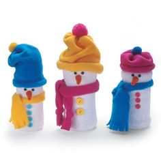It's Written on the Wall: {Christmas Snow} Gotta Love These Snowmen!  How to make!
