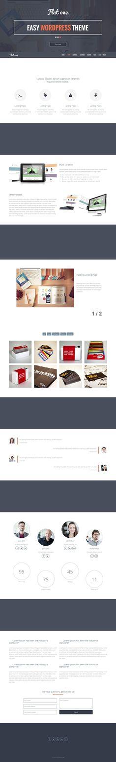 Flatone - Responsive #WordPress Theme for Sales Landing Pages http://www.themesandmods.com/premium-wordpress-themes/flatone/