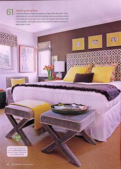 Love the yellow & grey.