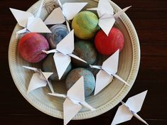 Origami Cranes, created for for functions in white or coloured paper