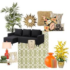 """""""Black couch"""" by megan-smith-7 on Polyvore"""