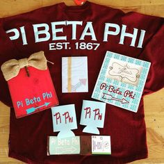 Pi Beta Phi goodies! #piphi #pibetaphi