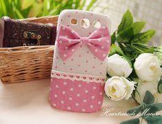 Diy Handmade Fabric Art Phone Case no.62c Pink by HeartmadeMacau, $20.99