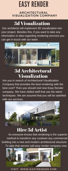 Great architectural rendering companies and rendering services 3d Architectural Visualization, 3d Visualization, 3d Rendering Services, Architects, Touch, Canning, Space, Easy, Floor Space
