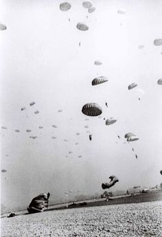 Robert Capa, American paratroopers spearheading the Allied invasion of Germany, near Wesel, Germany, 1945