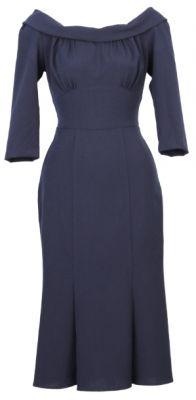 "Stop Staring Tabatha Dress in Navy - I keep seeing this around, and thinkging ""YES!!!1!"" but I don't know if that's because it's a totally a dress I love or if that's the dress you should wear. Are we getting closer?"