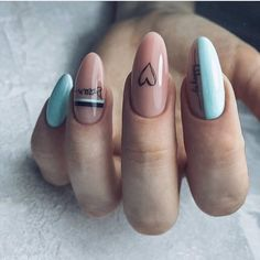Manicure and nail art are two things that cannot be separated. After manicure's done, nail art is the next stel. Nail art is a technique to apply nails Stylish Nails, Trendy Nails, Cute Nails, Minimalist Nails, Perfect Nails, Gorgeous Nails, Ring Finger Nails, Fall Nail Art Designs, Girls Nails