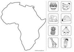Africa cut and stick Cultural Studies, Social Studies, Continents And Oceans, Around The World Theme, Montessori Preschool, World Geography, Africa Art, Stem Science, Montessori Materials