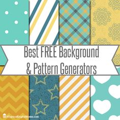 We love free tools and this page has some great ones! A Typical English Home: The Best Background And Pattern Generators Web Design, Blog Design, Free Background Patterns, Background Ideas, School Fonts, Cool Backgrounds, Blog Love, Paper Tags, Printable Paper