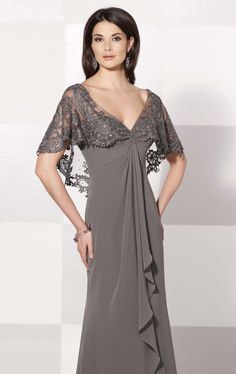 Unique Fashion Plus Size Mother Of The Bride Dresses 2015 Sheer Cap Sleeve Lace Appliques V-Neck Pleated Women Gown New