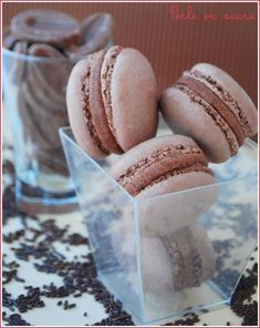 Macaron au chocolat au lait