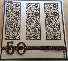 50th card made using Tattered Lace Floral panel available with the tattered Lace magazine issue 8.