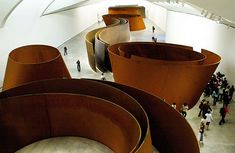 "Richard Serra - ""A Matter of Time"" There is a piece of his in the Nasher Sculpture Center in Dallas...."