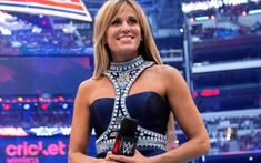 Lilian Garcia was the WWE ring announcer for a very long time and through that role she got a nice gig singing the Star Spangled Banner before every WWE Wwe Divas Paige, Lilian Garcia, Ready To Rumble, Star Spangled Banner, Combat Sport, Wwe News, Professional Wrestling, Superstar
