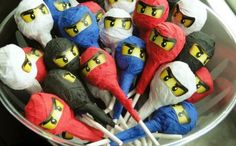 "Kick up your LEGO Ninjago party planning with 23 of the best Ninjago birthday party ideas! Pack a punch with Ninjago decorations.  Entertain guests with games like ""pin the mask on the ninja"" or let them eat Ninjago-inspired candy kabobs, cupcakes and cookies.  Send home sweet treats in Ninjago favor bags. What a party! See Also Kids will never get bored with these 17 Ways to Play with LEGOs. Have a LEGO fan in your house? Check out 19 Ways to Decorate with LEGOs to spruce up their play…"