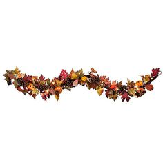 Improvements Pre-Lit Pumpkin Garland-6' ($60) ❤ liked on Polyvore featuring home, home decor, holiday decorations, fall decor, pumpkin decor, pumpkins, table decor, table top tree, tabletop tree and thanksgiving
