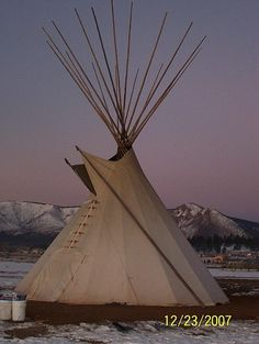 Native American Church tipi, via Flickr.