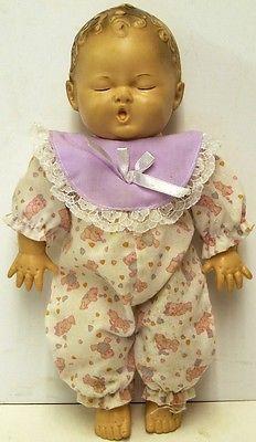 1953-Dree-Me-Dee-10-Doll-The-Sun-Rubber-Co-Barberton-O-USA-Nightgown-Squeeker
