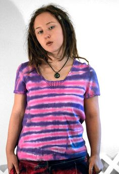 Cheshire stripe tie dye shirt