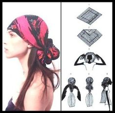 I get a little bit a chuckle putting these on the hair board  Wear Your Scarves with Different Styles