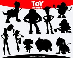Toy Story Instant Download silhouette by pinkykatieclipart on Etsy