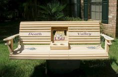 LSU Tigers Death Valley Porch Swing w/folddown by Riverboatflash, $455.00
