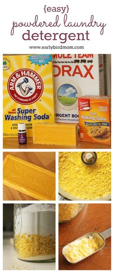 This is the best homemade laundry detergent Ive tried. Just pennies a load and its all natural. Make your own laundry soap with this easy DIY recipe containing a few ingredients and lavender essential oil. Great for HE and regular machines - DIY Homer Homemade Cleaning Products, Cleaning Recipes, Natural Cleaning Products, Cleaning Hacks, Cleaning Supplies, Cleaning Solutions, Laundry Supplies, Household Products, Household Tips