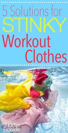 Properly washing workout clothes is difficult. I have found the secret 5 Solutions for Stinky Workout Clothes you are looking for! Smelly Laundry, Best Laundry Detergent, Laundry Tips, Cleaning Workout, Workout Gear, Workouts, Workout Outfits, Smelly Clothes, Washing Clothes