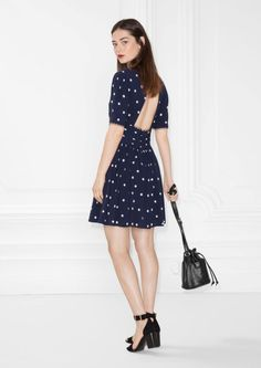 & Other Stories image 2 of Dotted Dress in Blue