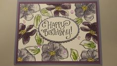Penned & Painted Stampin Up stamp set with Stylized Birthday sentiment Birthday Sentiments, Stampin Up, Paper Crafts, Space, Creative, Cards, Painting, Foil Stamping, Display