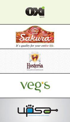 Criação de logos: Oxi Sports (academia), Sakura (versão da logo existente, para exportação), Hosteria (provedor de hospedagem), Veg's (projeto de revista vegana para um TCC), UPSA (Universidade Pfizer Saúde Animal - estudo em aprovação).