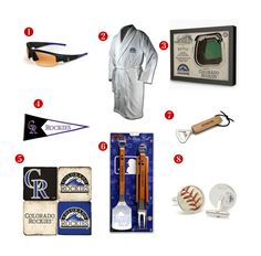 8 Great Father's Day Gift ideas for the avid Colorado Rockies Fan! See all of our Rockies gifts at http://www.topnotchgiftshop.com/colorado-rockies.html
