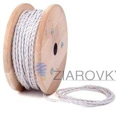 Kábel dvojžilový v podobe textilnej šnúry v bielej farbe môže byť krásnym prírastkom do vašej existujúcej lampy, svietidla alebo iného spotrebiča energie (3)