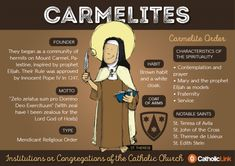 Carmelites: 9 Infographics to Take the Confusion out of Identifying Religious Orders of the Catholic Church Catholic Prayers, Nun Catholic, Catholic Religious Education, Catholic Catechism, Catholic Kids, Religious Studies, Catholic Quotes, Catholic Saints, Roman Catholic