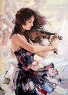 Pastel Violin…