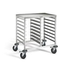 GTARDO.DE:  Regalwagen mit Arbeitsplatte, 2-teilig, Einschübe 16 GN 1-1 oder 32 GN 1-2, Tragkraft 180 kg, 820x613x845 mm 652,00 €