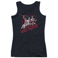 Batman Gotham's Most Wanted Black Womens Tank-Top T-Shirt