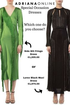 Do you have office party, important wedding or just dinner? We have right choice for you! Which dress do you choose: Green Fringe or Simple Black? Office Parties, Special Dresses, Fringe Dress, Your Favorite, Special Occasion, Dinner, Simple, Green, Party
