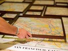 How to Create Fractured, Framed Map Art   Easy Crafts and Homemade Decorating & Gift Ideas   HGTV